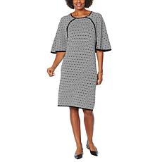 Antthony Jacquard Sweater Poncho Dress
