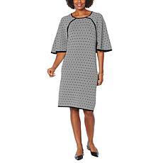 Antthony Jacquard Sweater Poncho Dress