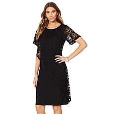 "Antthony ""Lacey Days"" Asymmetric Lace Overlay Dress"