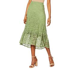 """Antthony """"Lacey Days"""" Tiered Lace Skirt"""