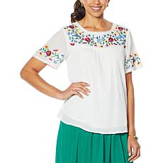 "Antthony ""Mexicali"" Folkloric Embroidered Top"