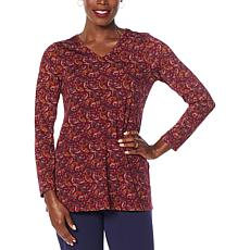 Antthony Paisley Print Long-Sleeve Knit Top