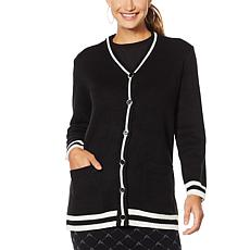 """Antthony """"Style Sensation"""" Varsity-Style Sweater Jacket"""
