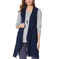 Antthony Sweater Knit Vest with Chiffon Back Panel