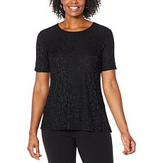 Antthony Textured Knit Short-Sleeve Top