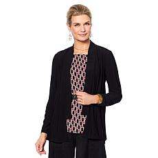 "Antthony ""Thrill Me"" 2-piece Cardigan and Printed Top Set"