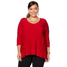 "Antthony ""Timeless Textures"" Top with Tiered Insets"