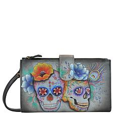 Anuschka Hand Painted Leather Cell Phone Case and Wallet