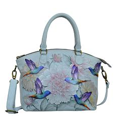 Anuschka Hand-Painted Leather Convertible Satchel