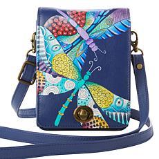 Anuschka Hand Painted Leather Crossbody Bag