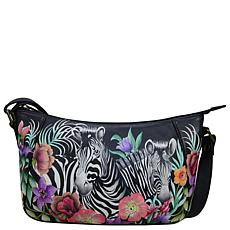 Anuschka Hand Painted Leather Everyday Shoulder Hobo