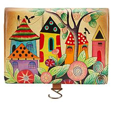 Anuschka Hand-Painted Leather Hanging Travel Organizer