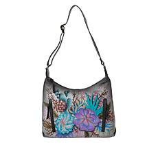 Anuschka Hand-Painted Leather Hobo