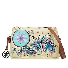 Anuschka Hand-Painted Leather Organizer Satchel