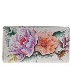 Anuschka Hand Painted Leather RFID Protected Card Organizer