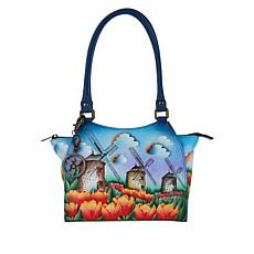 Anuschka Hand-Painted Leather Tote with Accessories