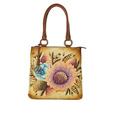 Anuschka Hand-Painted Leather Tri-Compartment Shopper