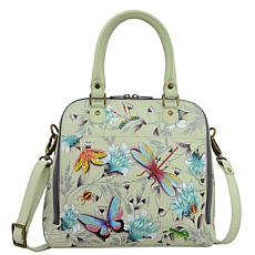 Anuschka Hand-Painted Leather Zip Around Convertible Satchel