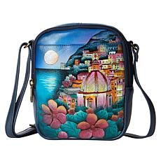 Anuschka Hand-Painted Small Leather Crossbody