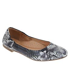 Anuschka Natalie Printed Leather Ballet Flat