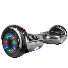 AOB Hoverboard with Bluetooth Speakers - Black Chrome