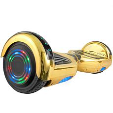 AOB Hoverboard with Bluetooth Speakers - Gold Chrome