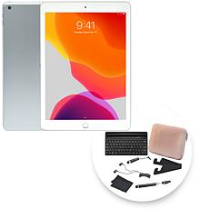"""Apple iPad® 10.2"""" 128GB Gold Tablet with Keyboard and Accessories"""