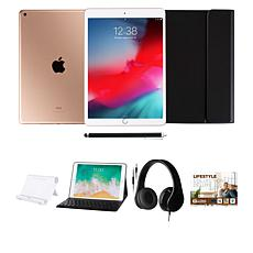 """Apple iPad® 10.2"""" Gold 32GB with Voucher, Keyboard and Headphones"""