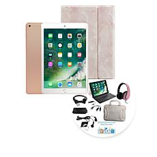 Apple iPad® 32GB Tablet w/Keyboard Case & Headphones - Gold