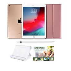 """Apple iPad® 9.7"""" 32GB Gold Tablet with Keyboard Case and Apple Pencil"""