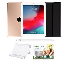 "Apple iPad® 9.7"" 32GB Gold Tablet with Keyboard Case and Apple Pencil"