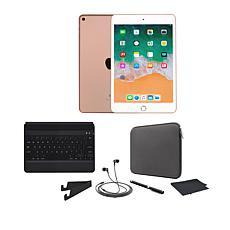 Apple iPad Mini 5 64GB Gold w/Bluetooth Keyboard and Accessories