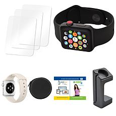 Apple Series 3 38mm Sport Watch with Cellular, Extra Band and Case