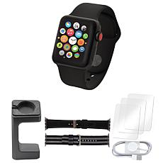 Apple Watch Series 3 38mm w/ Cellular, Stand and Screen Protectors