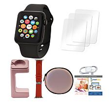 Apple® Watch Series 3 38mm with GPS, Extra Band & Stand - Black