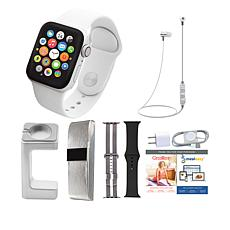 Apple Watch Series 4 44mm with 2 Extra Bands, Wireless Earbuds & Stand