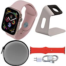 Apple Watch Series 5 40mm with Tough Case, Sport Band and Stand