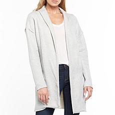 Aratta Casual Choice Embroidered French Terry Jacket - Heather Grey