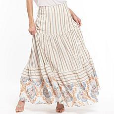 Aratta Rosaline Skirt - Ivory Stripe