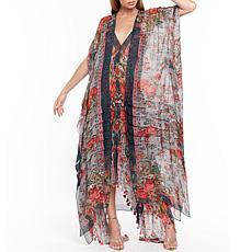 Aratta Travel in Style Kimono - Slate Floral