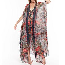 Aratta Travel in Style Wrap - Slate Floral