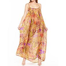 Aratta Tropical Illusions Dress - Golden Print