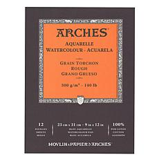 "Arches Watercolor Pad - 9"" x 12"" Rough 140 lb."