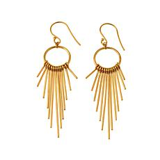 Argento Vivo Goldtone Sterling Silver Fringe Drop Earrings