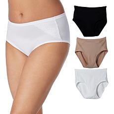 Aria Heavenly Touch 3pk Modern Brief with Lace Detail