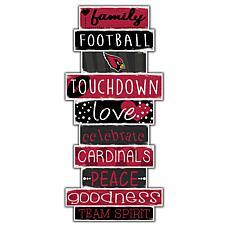 "Arizona Cardinals Celebrations Stack 24"" Sign"
