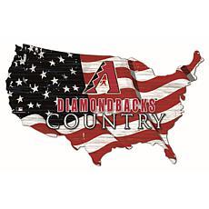 Arizona Diamondbacks USA Shape Flag Cutout