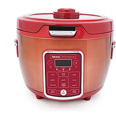 Aroma ARC-1230R 20-Cup (Cooked) Glass Lid Digital Rice Cooker - Red
