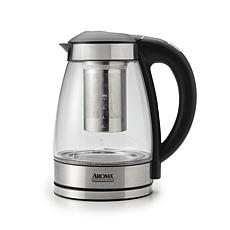 aroma glass 7 cup digital water kettle aroma kitchen appliances   hsn  rh   hsn com