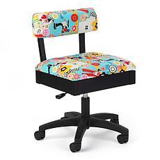 Arrow Adjustable Hydraulic Swivel Craft Chair with Under Seat Storage